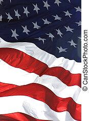 Amerikanische Flagge, vertikale Sicht.