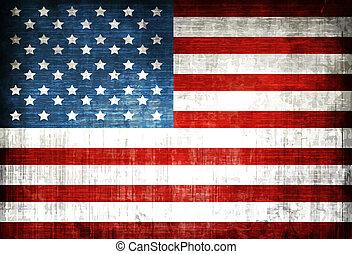Amerikanische Flagge.