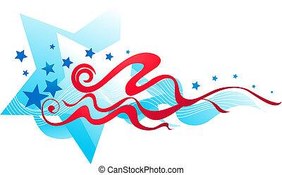 Amerikanische Flaggenbanner - 2