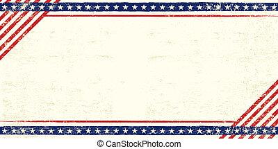 Amerikanische Grunge Postkarte.