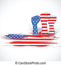 Amerikanische Unabhängigkeitstag.