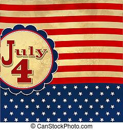 Amerikanischer Flaggen-Hintergrund mit Sternen symbolisiert den 4. Juli Unabhängigkeitstag