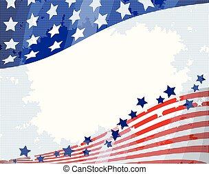 Amerikanischer fließender Hintergrund.