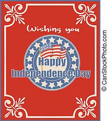 Amerikanischer, glücklicher Unabhängigkeitstag