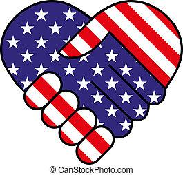 Amerikanischer Handschlag