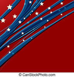 Amerikanischer Unabhängigkeitstag, patriotischer Hintergrund