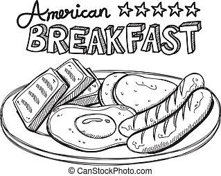 Amerikanisches Frühstück.