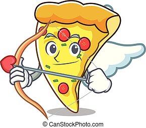 Amor Pizzeria-Charakter-Cartoon.