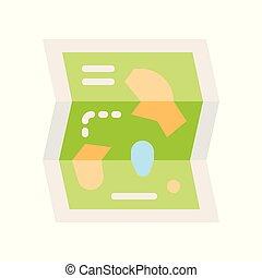 Amusement Park Karte Vektor Icon, Vergnügungspark verwandte flachen Stil.