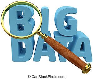analyse, informationen, daten, finden, groß