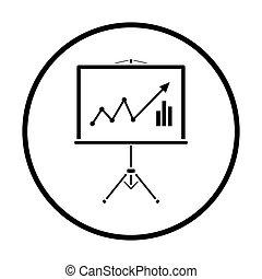 Analytiker stehen Ikonen
