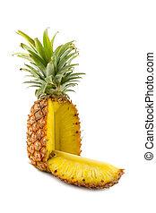 Ananasschnitt.