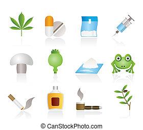 Andere Art von Drogen-Ikonen