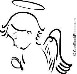 Angel betet