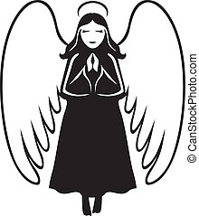 Angel betet.