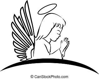 Angel betet kreatives Logo