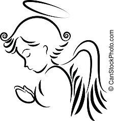 Angel betet Logo