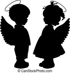 Angel Silhouettes bereit