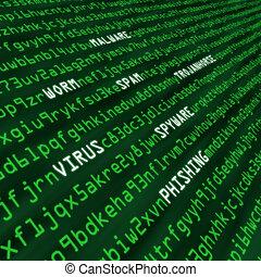 angriff, code, methoden, cyber