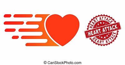 angriff, not, liebe, ausdrücklich, herz, ikone, briefmarke