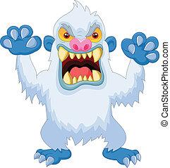 Angry Cartoon Yeti.