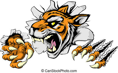 Angry Tiger Sports Maskottchen.