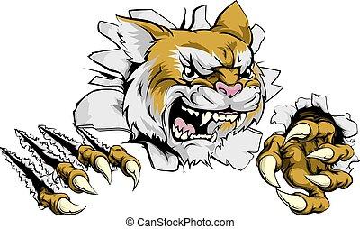 Angry Wildcat Sport Maskottchen.