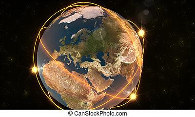 Animation zeigt die Erde
