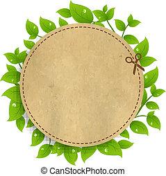 Ankündigung von 0421oupon mit Blättern