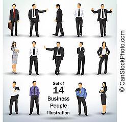 Ansammlung von Geschäftsleuten