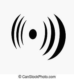 Antennensignal Silhouette