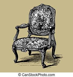 Antike barocker Sessel