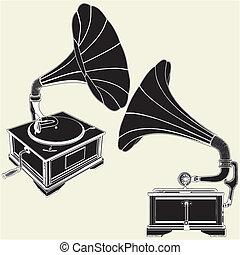 Antike Grammophon
