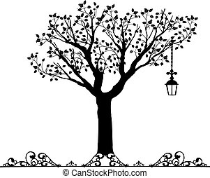 Antike Ornamente Vektor eines Baumes.