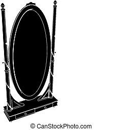 Antike Spiegelverbindung