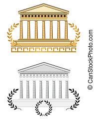 Antike Tempel Fassade