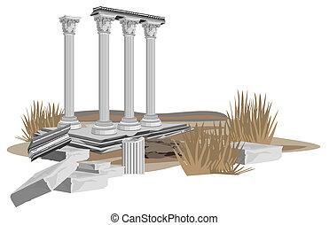 Antike Tempelruine