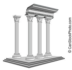 Antike Tempelruinen.