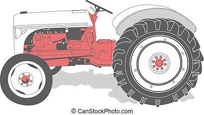 Antike Traktor