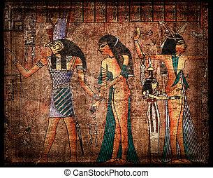 Antiker egirtischer Papyrus.