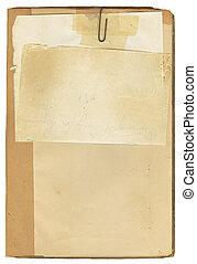 Antikes Buch und Notizpapier