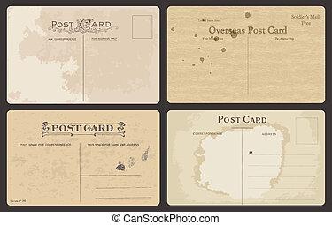 antikes , postkarten, satz, vektor