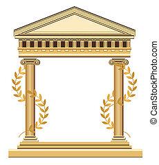 Antikischer griechischer Tempel.