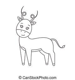 Antilope für Farbbuch.