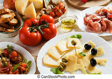Antipasto, traditionelles italienisches Appetithäppchen