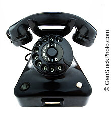 Antiquität, altes Retro-Telefon. Telefon repariert