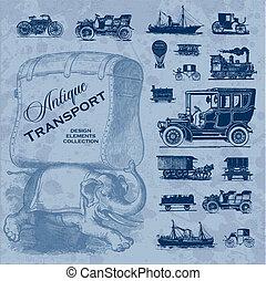 Antiquitätstransport-Set (Vektor)