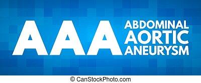 aortal, abdominal, aaa, aneurysma, akronym, -