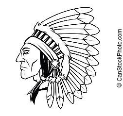 Apache-Kopf-Vektor-Darstellung.