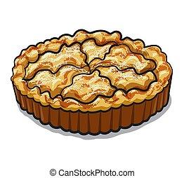 apfel, gebacken, torte